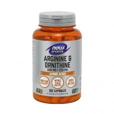 NOW Arginine & Ornithine 100 Veg. Capsules