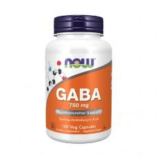 NOW GABA 750 mg 100 Veg. Capsules