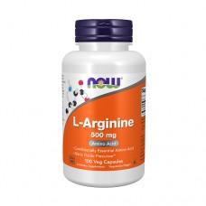 NOW L-Arginine 500mg 100 Veg. Capsules