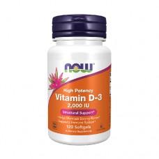 NOW Vitamin D-3 2000 IU High Potency 120 Soft Gels